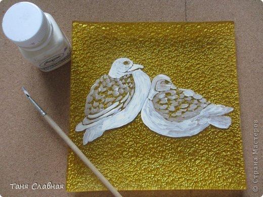Декор предметов Мастер-класс Аппликация Рисование и живопись Аппликация сухими лепестками цветов -2 Клей Краска Листья Материал природный Трава фото 8