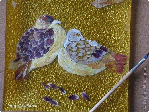 Декор предметов Мастер-класс Аппликация Рисование и живопись Аппликация сухими лепестками цветов -2 Клей Краска Листья Материал природный Трава фото 12