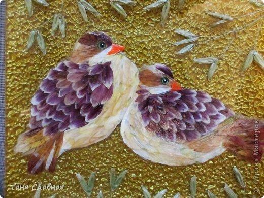 Декор предметов Мастер-класс Аппликация Рисование и живопись Аппликация сухими лепестками цветов -2 Клей Краска Листья Материал природный Трава фото 19