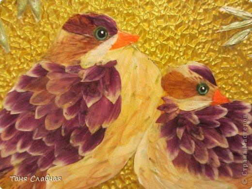 Декор предметов Мастер-класс Аппликация Рисование и живопись Аппликация сухими лепестками цветов -2 Клей Краска Листья Материал природный Трава фото 16