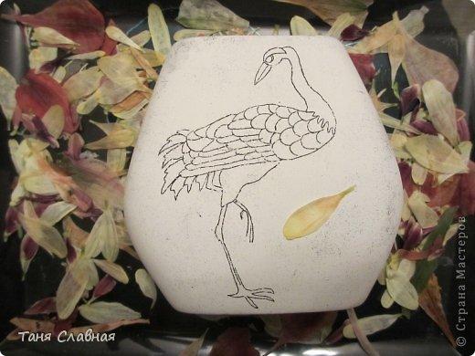 Декор предметов Мастер-класс Аппликация Рисование и живопись Аппликация сухими лепестками цветов -2 Клей Краска Листья Материал природный Трава фото 21