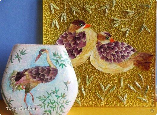 Декор предметов Мастер-класс Аппликация Рисование и живопись Аппликация сухими лепестками цветов -2 Клей Краска Листья Материал природный Трава фото 28