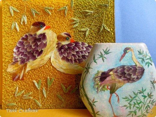 Декор предметов Мастер-класс Аппликация Рисование и живопись Аппликация сухими лепестками цветов -2 Клей Краска Листья Материал природный Трава фото 1