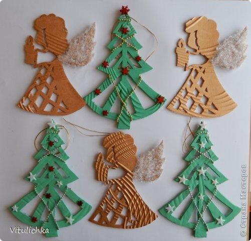 Ангелочки, ёлочки, снежинки для уличной елки