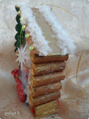 Мастер-класс Поделка изделие Новый год Декупаж Моделирование конструирование новогодние избушечки на елку фото 16