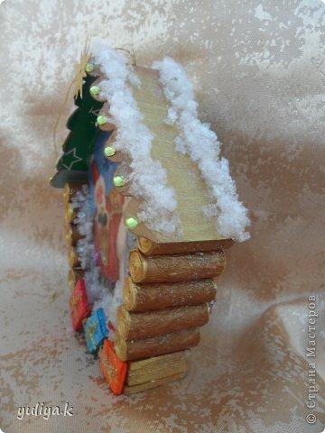Мастер-класс Поделка изделие Новый год Декупаж Моделирование конструирование новогодние избушечки на елку фото 19