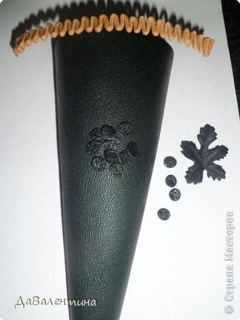 Картина панно рисунок Мастер-класс Коллаж Картина из кожи Натюрморт В Ожидании   Кожа фото 11