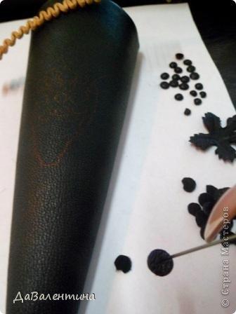 Картина панно рисунок Мастер-класс Коллаж Картина из кожи Натюрморт В Ожидании   Кожа фото 12