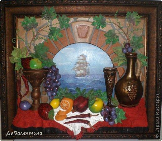 Картина панно рисунок Мастер-класс Коллаж Картина из кожи Натюрморт В Ожидании   Кожа фото 1