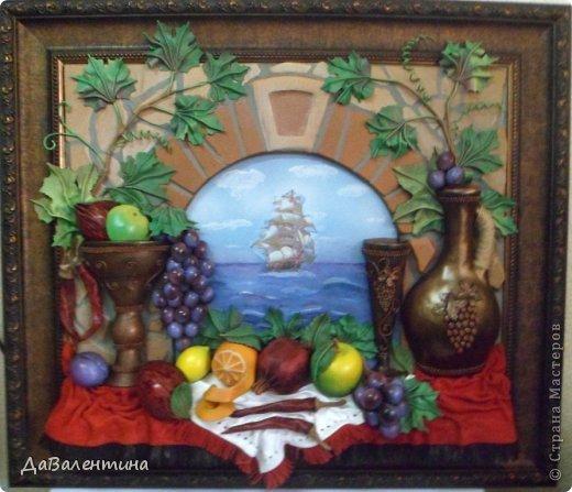 Картина панно рисунок Мастер-класс Коллаж Картина из кожи Натюрморт В Ожидании   Кожа фото 8