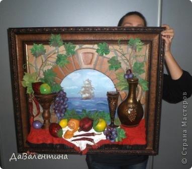 Картина панно рисунок Мастер-класс Коллаж Картина из кожи Натюрморт В Ожидании   Кожа фото 6