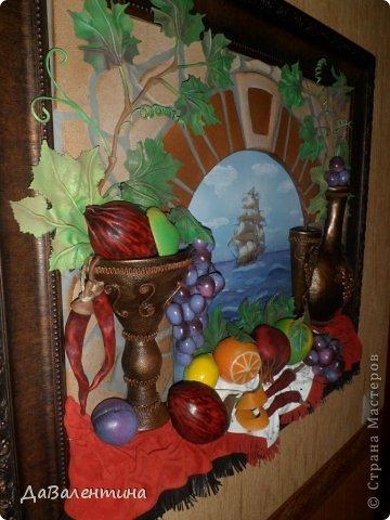 Картина панно рисунок Мастер-класс Коллаж Картина из кожи Натюрморт В Ожидании   Кожа фото 2