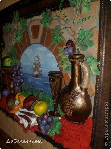 Картина панно рисунок Мастер-класс Коллаж Картина из кожи Натюрморт В Ожидании   Кожа фото 3