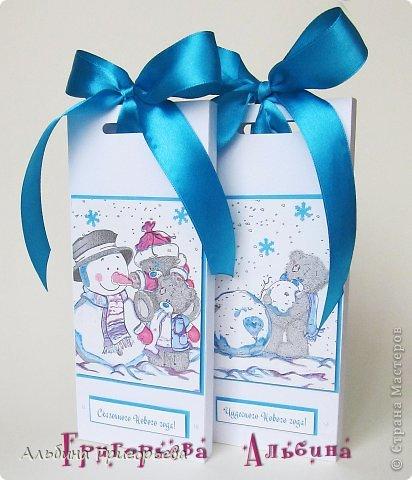 """Продолжаю серию новогодних Шоколадниц, теперь серия """"Мишки Тедди""""! Коробочки хорошего настроения для шоколадки!"""