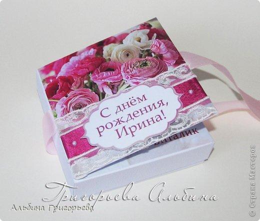 Цветы для хорошего человечка - открытка! Коробочка - открытка для денежного подарка на день рождения! Дарите деньги красиво! фото 2