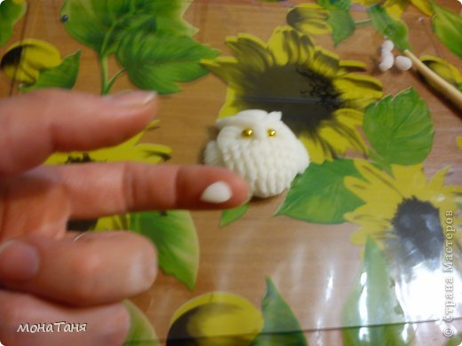 Мастер-класс Поделка изделие Новый год Лепка Маленький филин Фарфор холодный фото 12