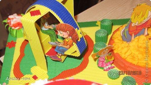 вот такой макет будущей детской площадки у нас получился! фото 3