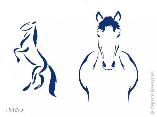 Картина панно рисунок Новый год Вырезание Полнение моего лошадиного табунчика 2 Бумага фото 9