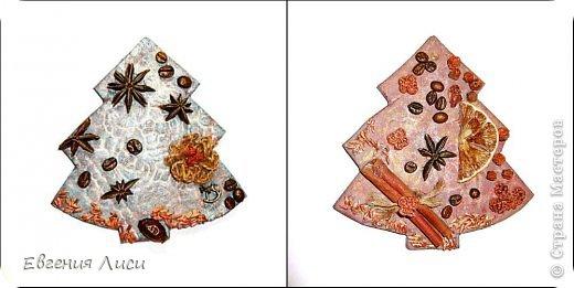 Мастер-класс Поделка изделие Новый год Декупаж Лепка Роспись Эко елочки Материал природный Салфетки Тесто соленое фото 8