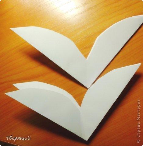 Мастер-класс Новый год Оригами Оригинальная объёмная снежинка Бумага фото 4