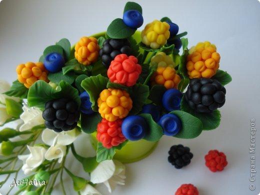 захотелось мне ягод,только оформить их хочу в белой чайной чашке,чтобы на блюдечке выложить три ягодки,а может еще и плиточку шоколада слепить. А пока они в ведре))) фото 5