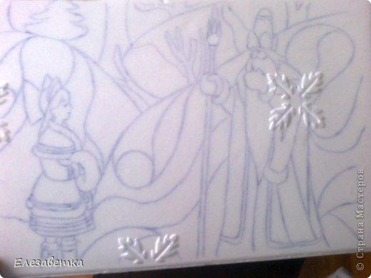 Картина панно рисунок Мастер-класс 8 марта День защиты детей День матери Новый год Аппликация Мозаика Как я это делаю  Мини МК Клей Пенопласт Ткань фото 8