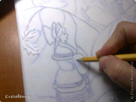 Картина панно рисунок Мастер-класс 8 марта День защиты детей День матери Новый год Аппликация Мозаика Как я это делаю  Мини МК Клей Пенопласт Ткань фото 9