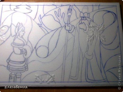 Картина панно рисунок Мастер-класс 8 марта День защиты детей День матери Новый год Аппликация Мозаика Как я это делаю  Мини МК Клей Пенопласт Ткань фото 10
