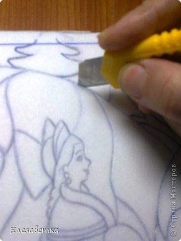 Картина панно рисунок Мастер-класс 8 марта День защиты детей День матери Новый год Аппликация Мозаика Как я это делаю  Мини МК Клей Пенопласт Ткань фото 11