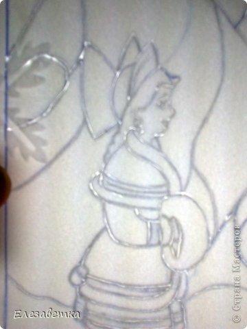 Картина панно рисунок Мастер-класс 8 марта День защиты детей День матери Новый год Аппликация Мозаика Как я это делаю  Мини МК Клей Пенопласт Ткань фото 13