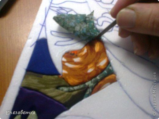 Картина панно рисунок Мастер-класс 8 марта День защиты детей День матери Новый год Аппликация Мозаика Как я это делаю  Мини МК Клей Пенопласт Ткань фото 23