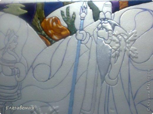 Картина панно рисунок Мастер-класс 8 марта День защиты детей День матери Новый год Аппликация Мозаика Как я это делаю  Мини МК Клей Пенопласт Ткань фото 24