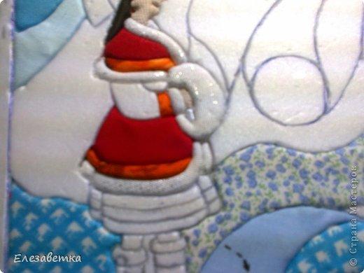 Картина панно рисунок Мастер-класс 8 марта День защиты детей День матери Новый год Аппликация Мозаика Как я это делаю  Мини МК Клей Пенопласт Ткань фото 27