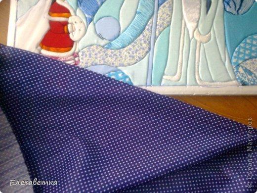 Картина панно рисунок Мастер-класс 8 марта День защиты детей День матери Новый год Аппликация Мозаика Как я это делаю  Мини МК Клей Пенопласт Ткань фото 29