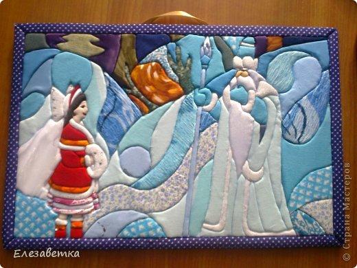 Картина панно рисунок Мастер-класс 8 марта День защиты детей День матери Новый год Аппликация Мозаика Как я это делаю  Мини МК Клей Пенопласт Ткань фото 31
