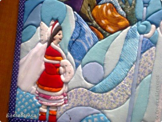 Картина панно рисунок Мастер-класс 8 марта День защиты детей День матери Новый год Аппликация Мозаика Как я это делаю  Мини МК Клей Пенопласт Ткань фото 33