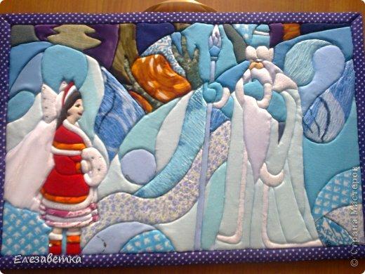 Картина панно рисунок Мастер-класс 8 марта День защиты детей День матери Новый год Аппликация Мозаика Как я это делаю  Мини МК Клей Пенопласт Ткань фото 34