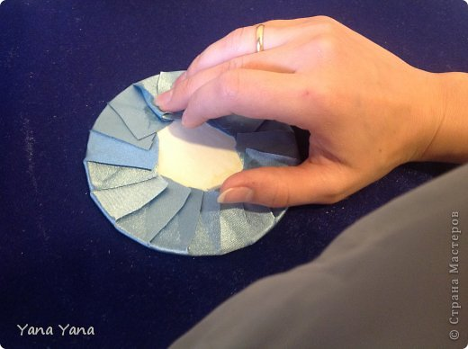 Мастер-класс Цумами Канзаши мастер-класс шкатулки канзаши Картон Ткань фото 16