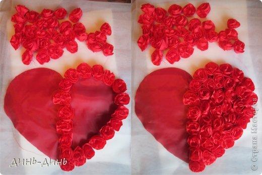 Сердце свадебное из ткани