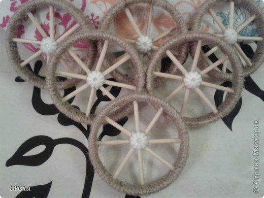 Декор предметов Мастер-класс Моделирование конструирование как я делаю колеса Трубочки картонные фото 8