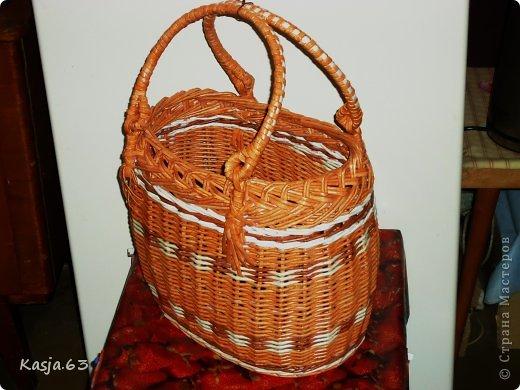 Поделка изделие Плетение Повторюшка на заказ с МК Трубочки бумажные фото 1