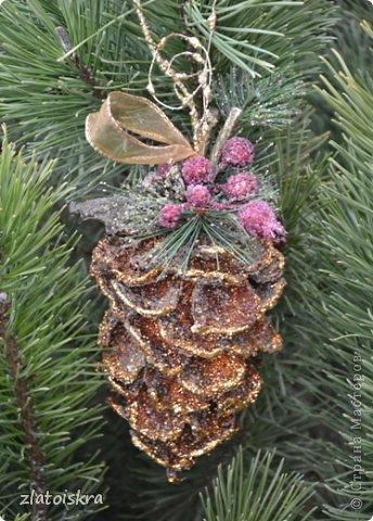 Мастер-класс Поделка изделие Новый год Рождество Моделирование конструирование Шишка из яичных лотков МК Материал бросовый фото 39