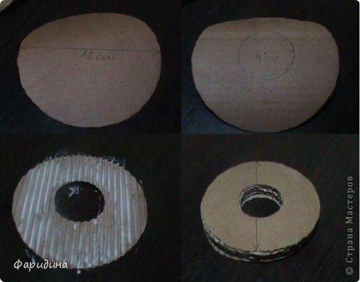 Мастер-класс Моделирование конструирование Губозакаточная машинка Картон гофрированный Клей Нитки Ткань фото 3