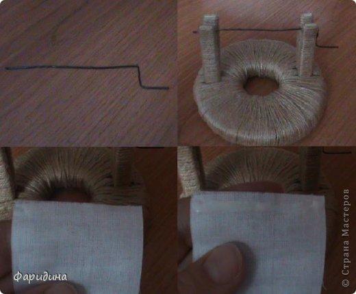 Мастер-класс Моделирование конструирование Губозакаточная машинка Картон гофрированный Клей Нитки Ткань фото 22