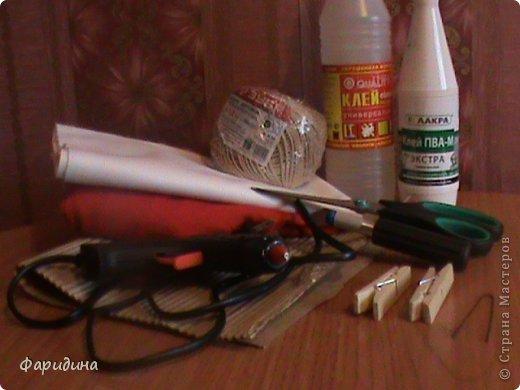 Мастер-класс Моделирование конструирование Губозакаточная машинка Картон гофрированный Клей Нитки Ткань фото 2