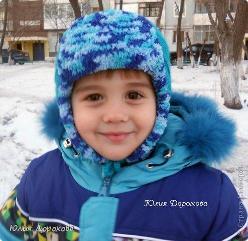 Гардероб Вязание Вязание крючком Шапка-ушанка для мальчишки Пряжа фото 2