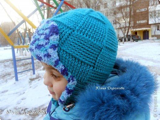 Гардероб Вязание Вязание крючком Шапка-ушанка для мальчишки Пряжа фото 5