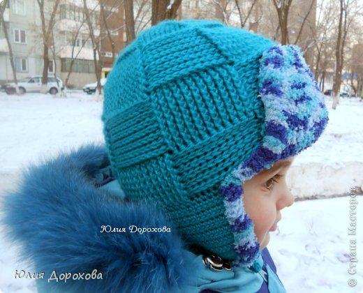 Гардероб Вязание Вязание крючком Шапка-ушанка для мальчишки Пряжа фото 4