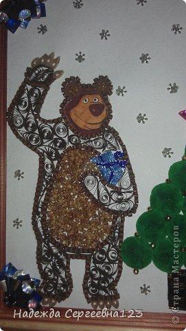 Новый год квиллинг маша и медведь