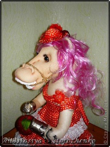 Мастер-класс Новый год Шитьё Мой мини МК по лошадке   Капрон фото 14